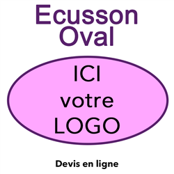 Ecusson brodé oval