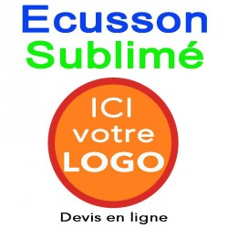 Ecusson imprimé rond sublimation