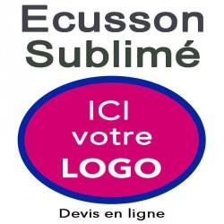 Ecusson imprimé ovale