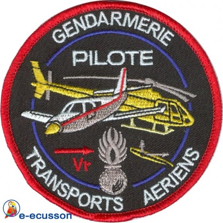 Ecusson brodé Pilote Gendarmerie Nationale
