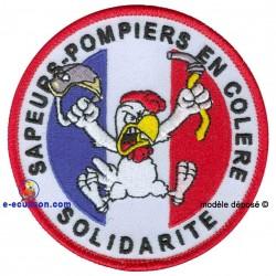Ecusson brodé Sapeurs-Pompiers en grève