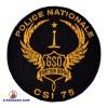 Ecusson rond brodé pour GSO - CSI 75